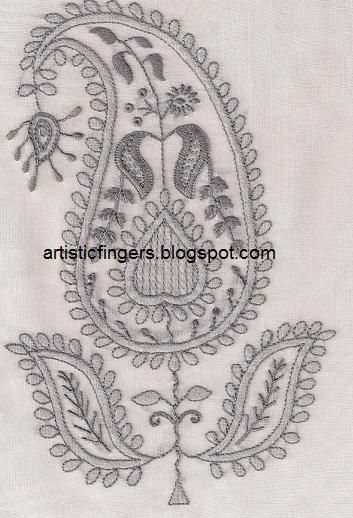 Artisticfingers Chikan Embroidery Tutorial Embroidery Pinterest