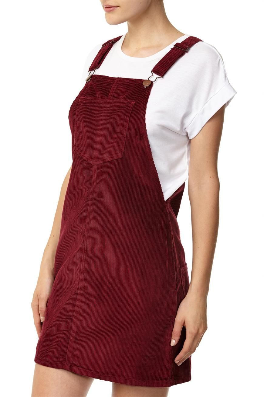 b02e19d847d3 overall dress maroon cotton on - Google Search   Clothes Me Gusta ...