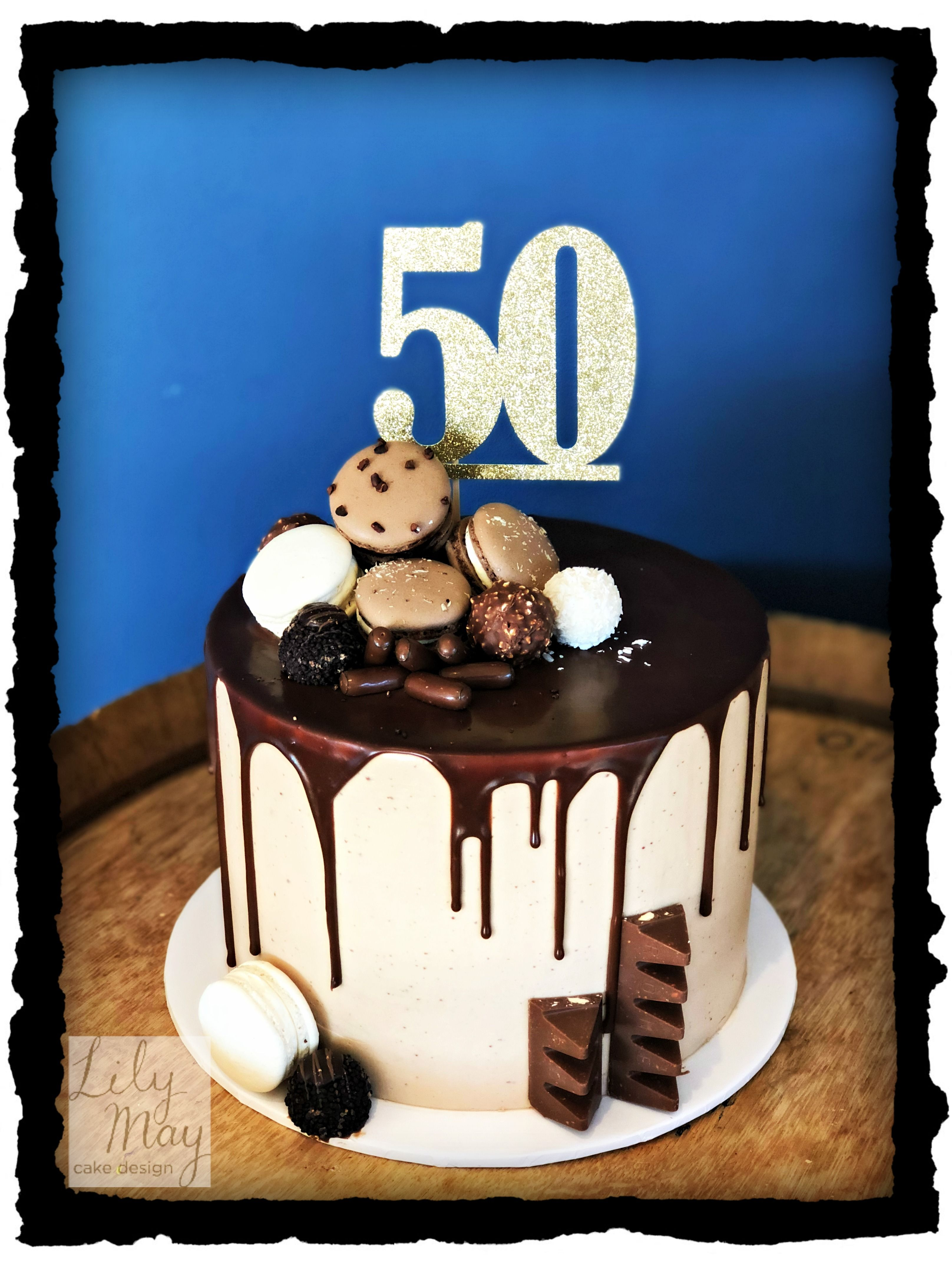 50th Birthday Cake for a man who loves chocolate