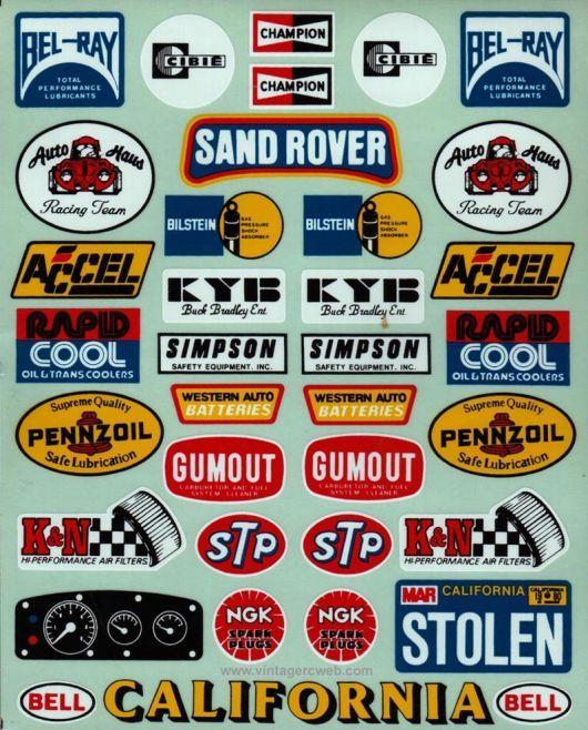Model Decals Racing Stickers Decals Decal Sheets