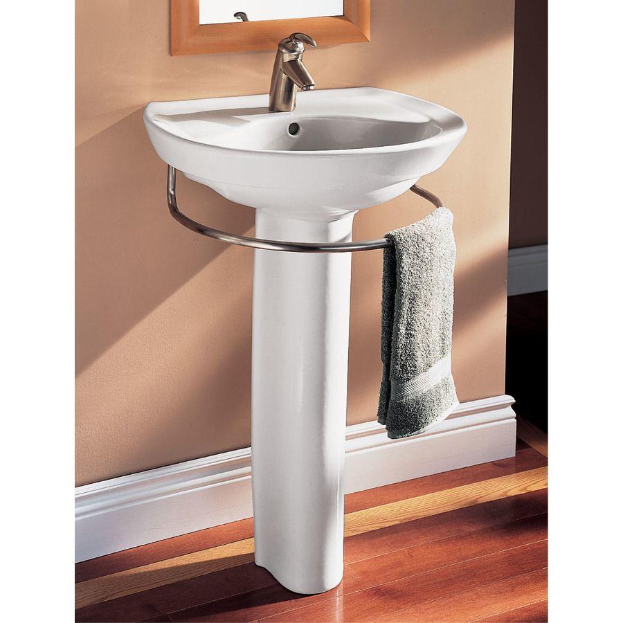 American Standard Ravenna 34 In H White Vitreous China Pedestal Sink