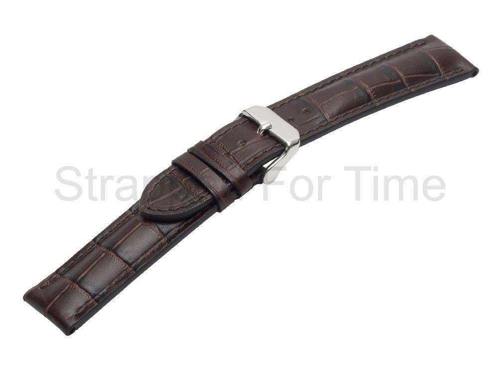 Tobacco Alligator Grain Watch Band