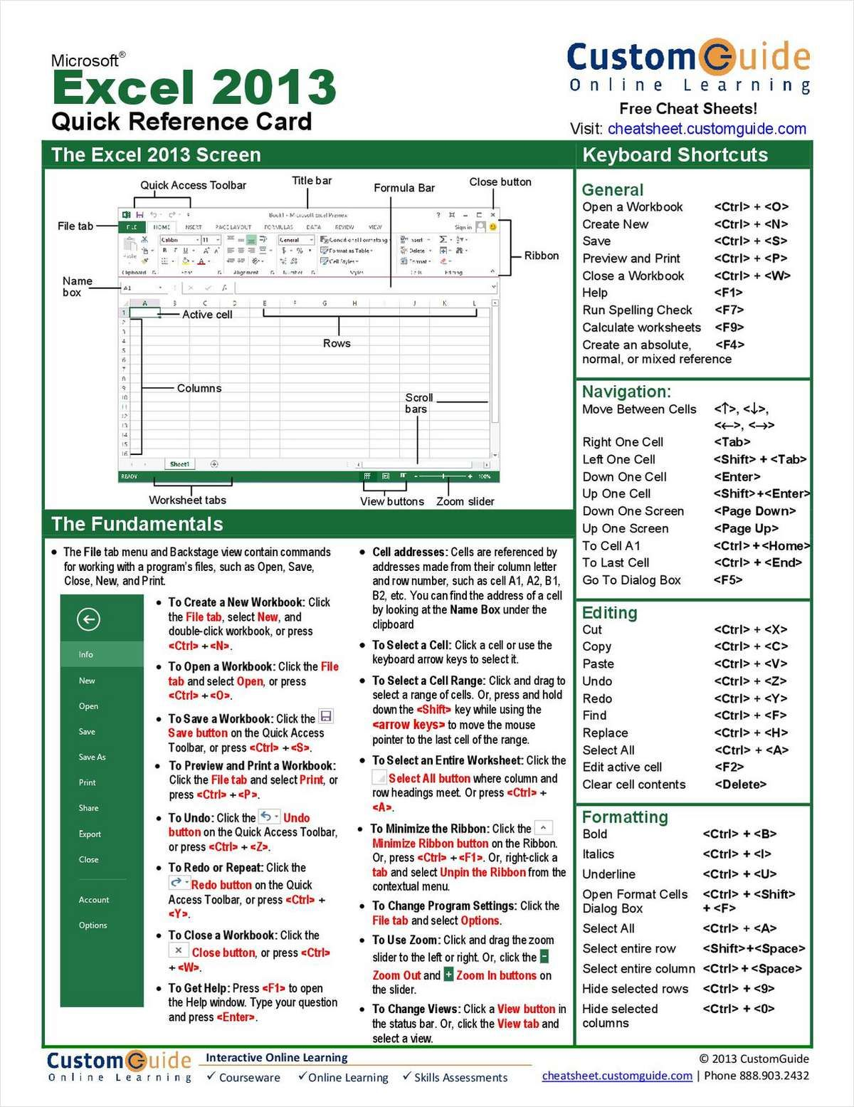 microsoft excel 2013 quick reference guide excel hot keys rh pinterest co uk quick guide to excel pivot table quick guide to excel 2010