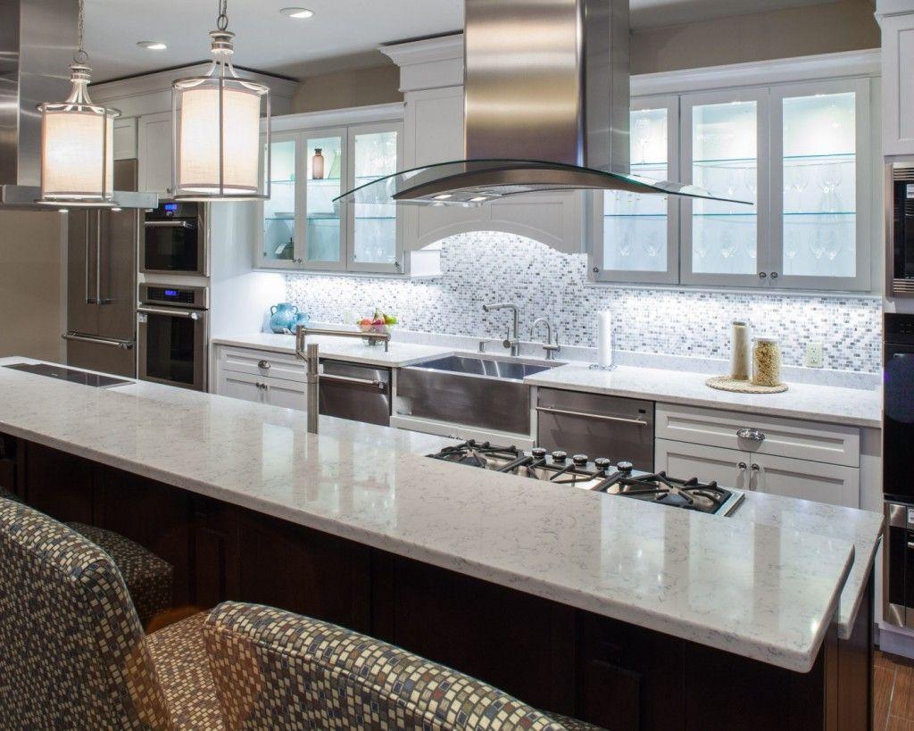 Lyra Silestone Quartz Kitchen Countertops White