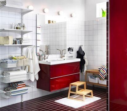 Du Rouge Pour Votre Salle De Bain Ikea Vends Regulierement Des
