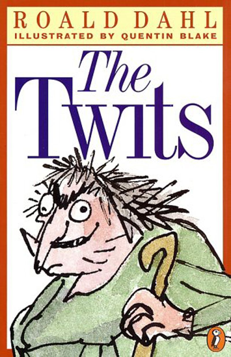 Book Cover Graphism Kits : The book cover of twits by roald dahl graphics exam