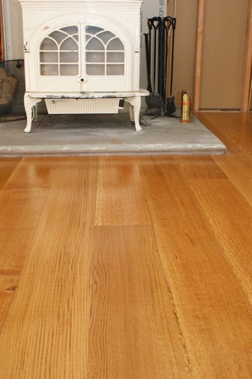 quarter and rift white oak with stain Hull This floor has a