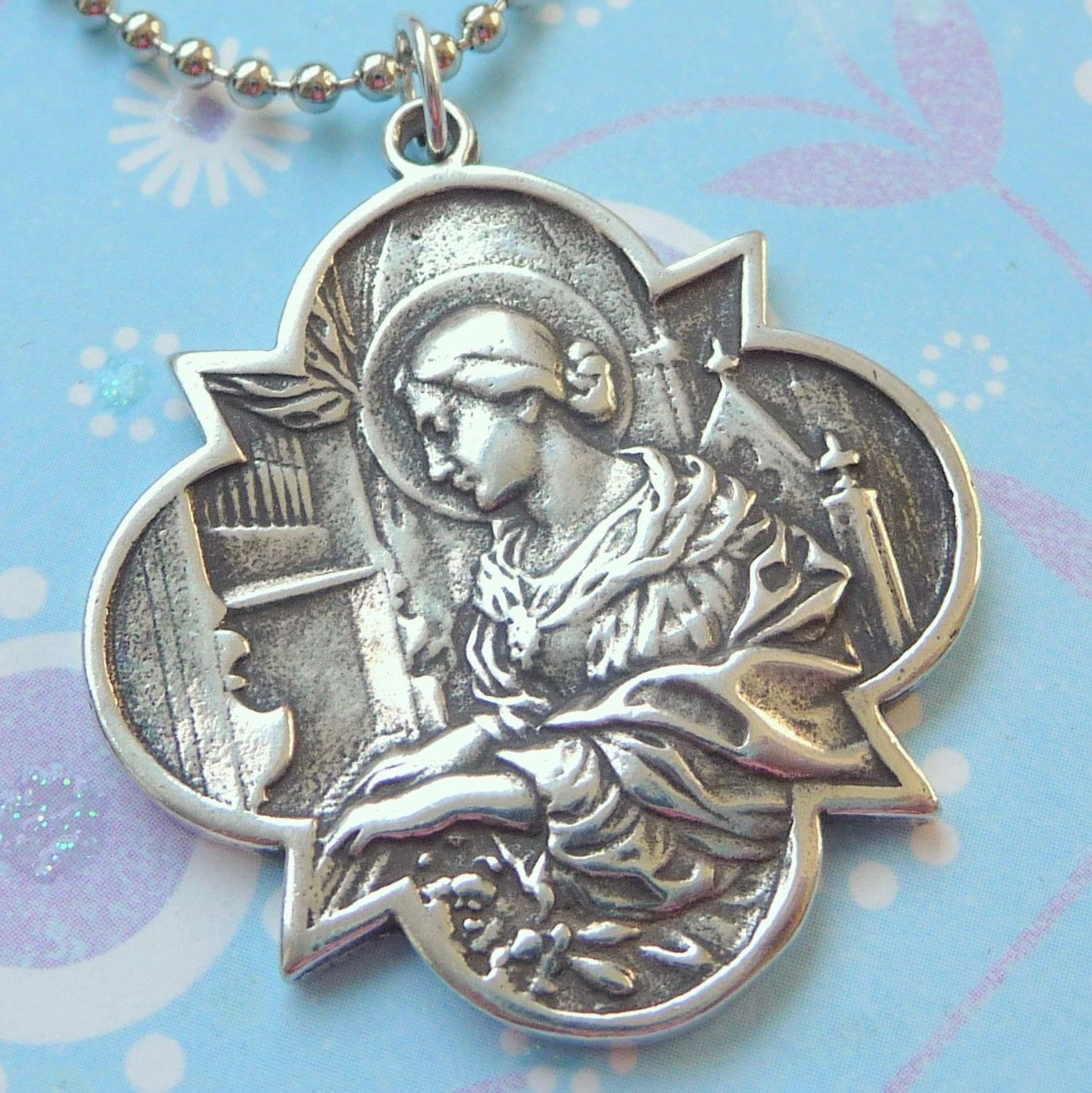 St cecilia medal st cecilia medal jewelry pinterest st cecilia medal st cecilia medal mozeypictures Choice Image