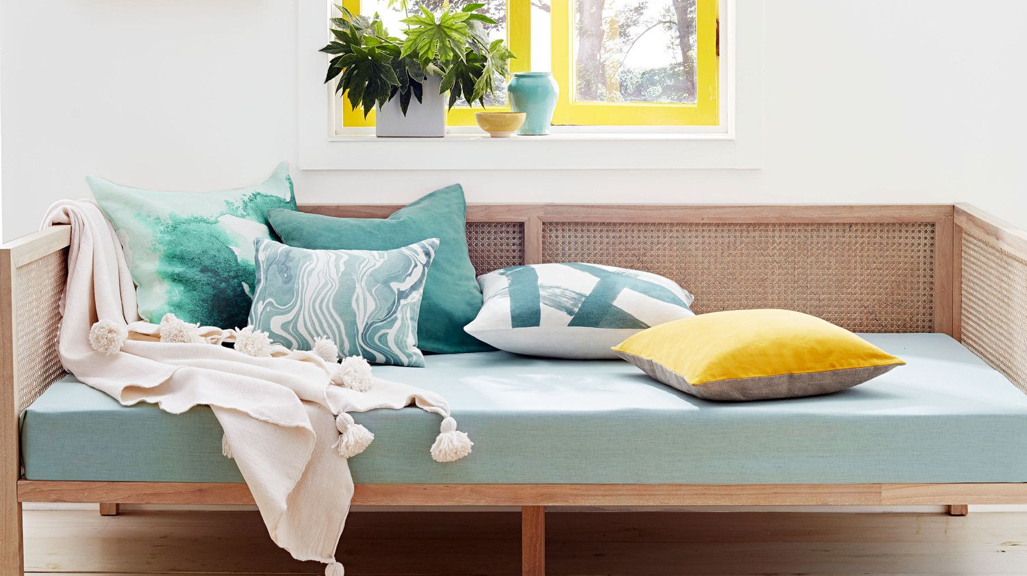 Bright Yellow and Celadon Are Having a Home Decor Moment | Bright ...