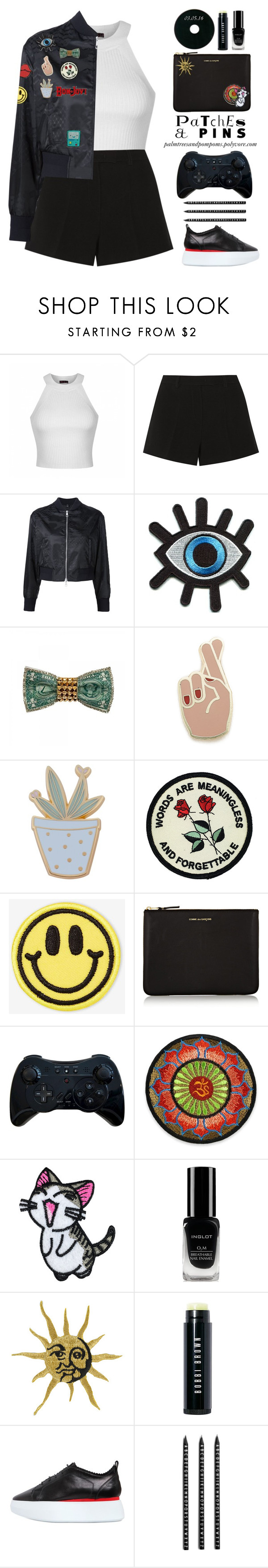 """Patch It, Pin It, Perfect!"" by palmtreesandpompoms ❤ liked on Polyvore featuring Ally Fashion, Emilio Pucci, Neil Barrett, Retrò, Georgia Perry, Des Petits Hauts, Big Bud Press, Comme des Garçons, Inglot and Bobbi Brown Cosmetics"