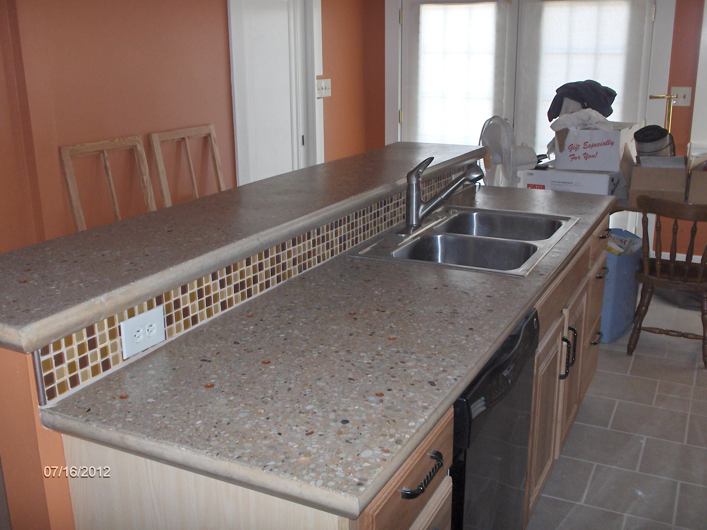 Building And Installing Diy Concrete Countertops  Diy Concrete Best Concrete Kitchen Countertops 2018
