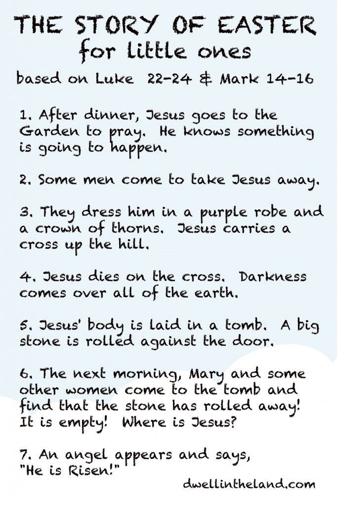 The Story of Easter for Little Ones | Holidays & Events | Pinterest ...