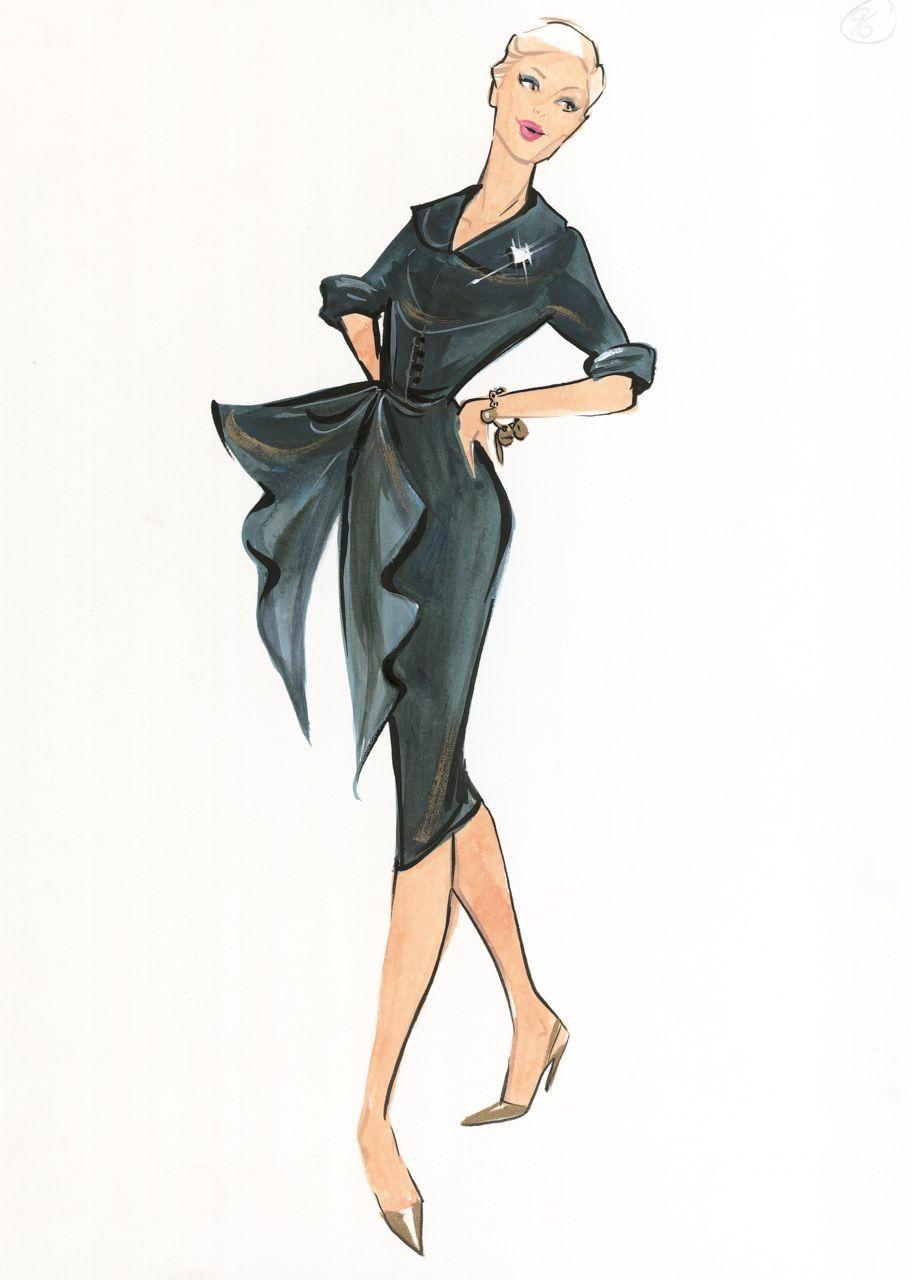 Artworks By Grant Cowan Fashion Illustration Dress Illustration Fashion Sketches