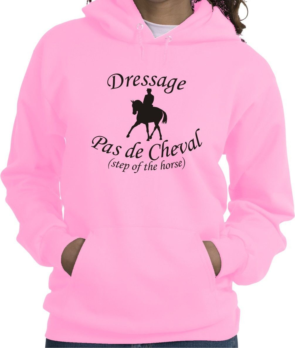 Dressage Pas de Cheval The Horse Step Pink Hoodie