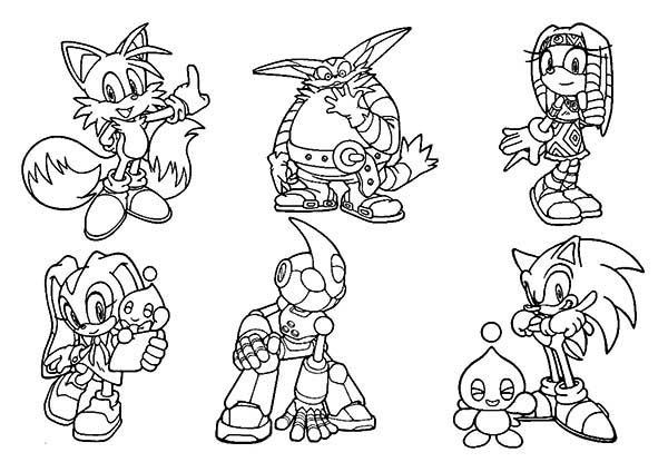 Coloring Pages Sonic Hedgehog Characters