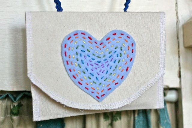 multiple stitching rows, simple and cute