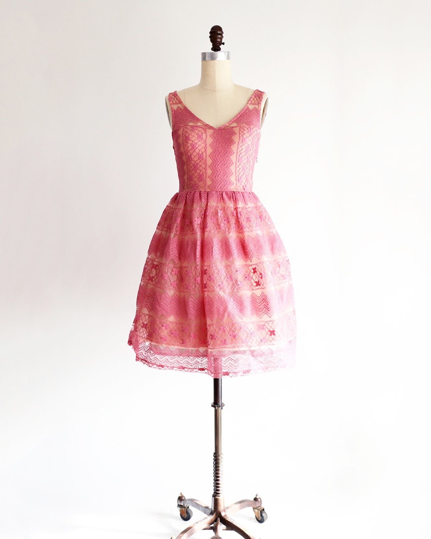 Rose colored wedding dress  RIVER  Rose  vintage inspired blush pink bridesmaid dress dusty
