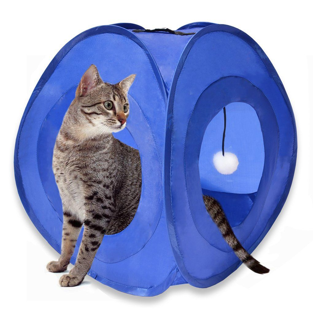 Kitty Cat Play and Sleep Tent with Portable, Foldable