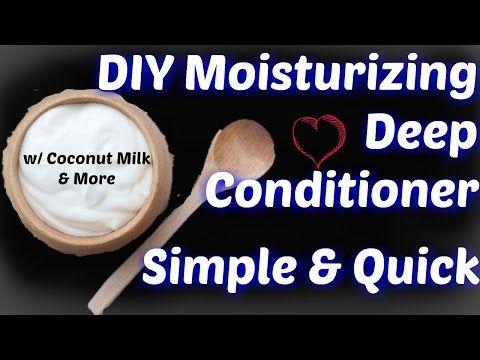 DIY Moisturizing Deep Conditioner for Natural Hair (4c, 4b, 4a hair friendly) - YouTube