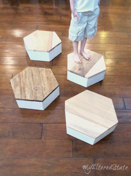 Diy Geometric Step Stool Woodworking Pinterest Wood