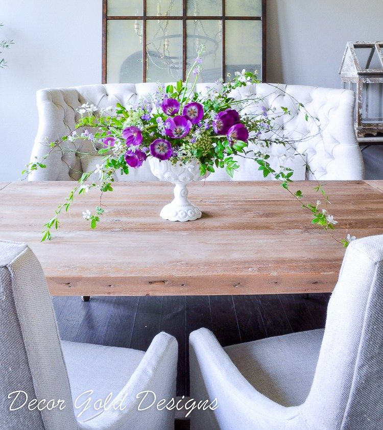 Spring Home Tours Bloomingdale S Friends And Family Sale Kristywicks Com Home Floral Arrangements White Vases Purple Centerpieces