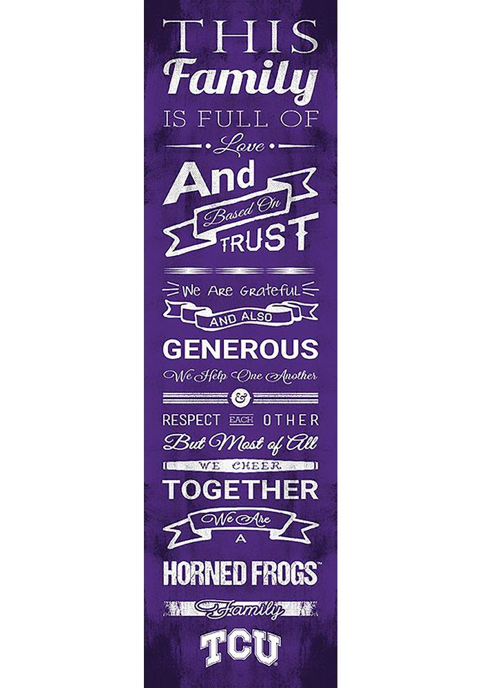 Tcu Horned Frogs 6x20 Family Cheer Wall Art Purple Wood Wild Cats Cheer Signs Purple Wall Art