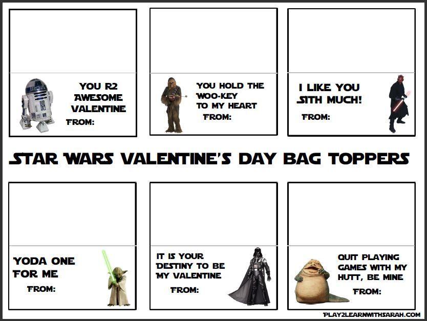 Free Printable Star Wars Valentine\u0027s Caffeine  Curls Valentines