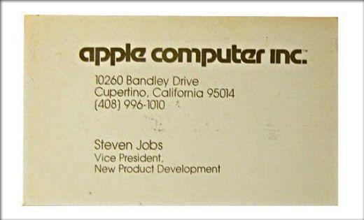 Business Card Of Steve Jobs  Product  Apple    Steve
