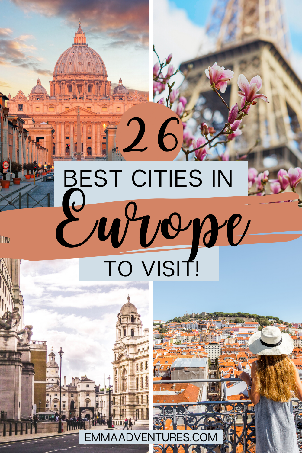 The best cities to visit in Europe that you can't miss! Find out 26 of the most beautiful cities in Europe in this ultimate Europe bucket list! #europe #europetravel #bucketlist #europebucketlist
