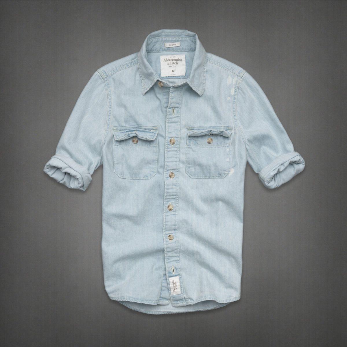 innovative design 98232 86188 Mens Silver Lake Denim Shirt   Mens Shirts   Abercrombie.com ...