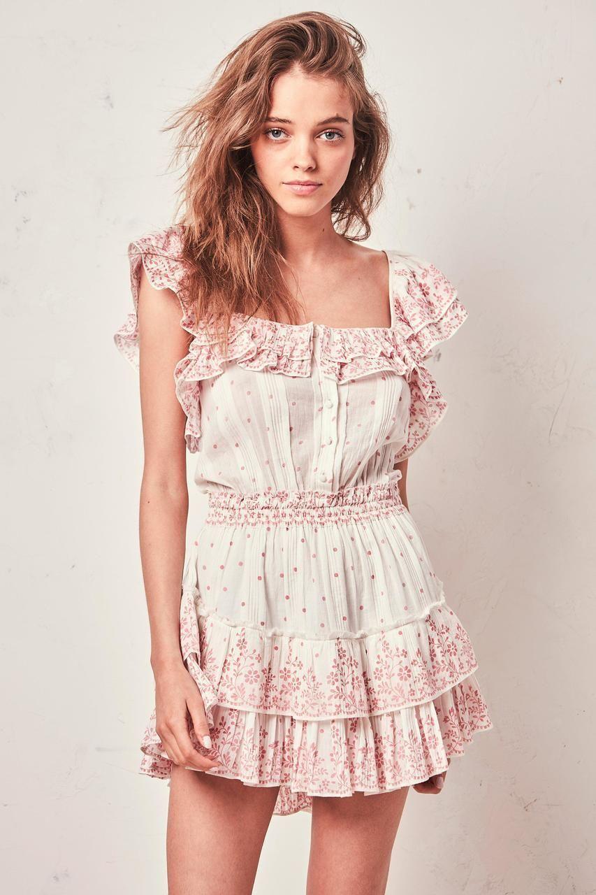 Love Shack Fancy Marina Ruffle Dress Meringue Country Chic Dresses Marina Dress Casual Dresses [ 1280 x 853 Pixel ]