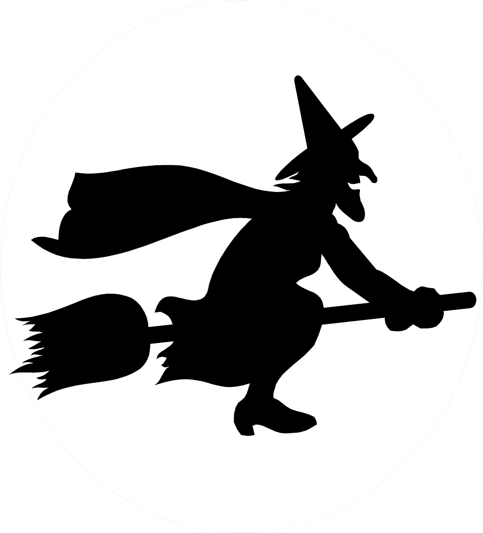 Witch Free Stock Photo Illustration Of A Witch Flying On A Broomstick 5062 Witch Silhouette Halloween Silhouettes Silhouette Template