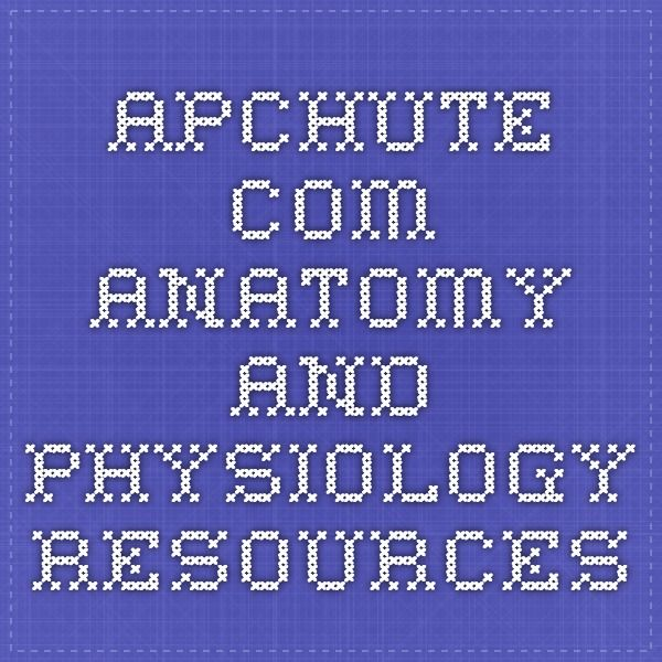 apchute.com anatomy and physiology resources | A&P2 | Pinterest