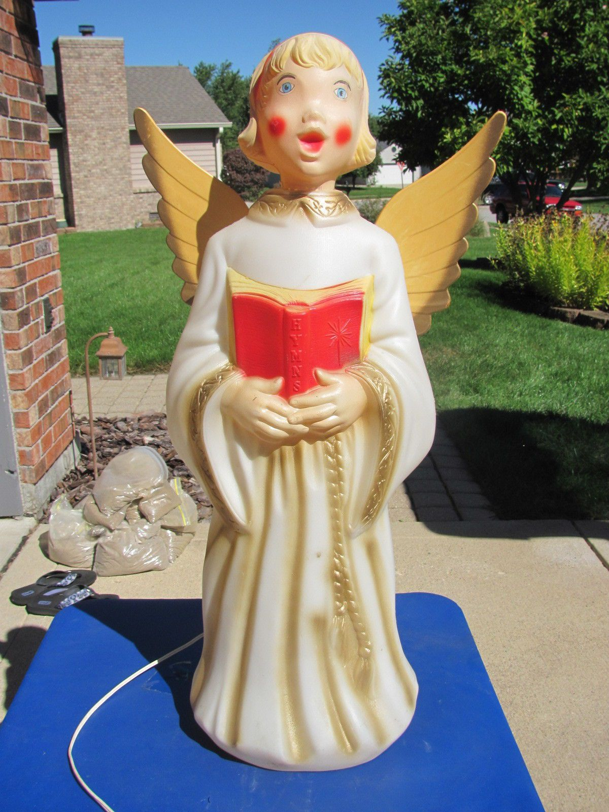 30 empire caroler angel xmas blowmold light up plastic outdoor decor vtg choir ebay