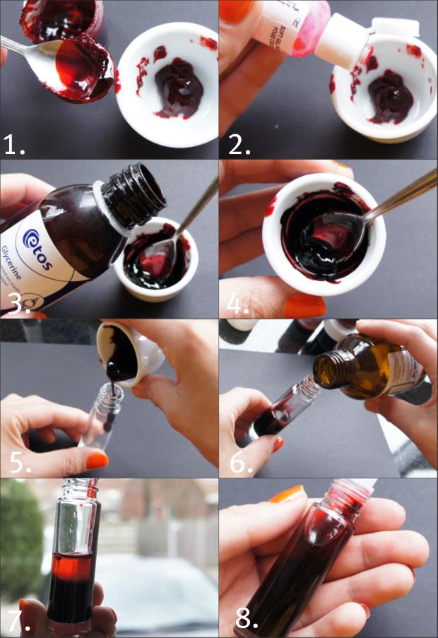 DIY Lip & Cheek Stain distilled water rosewater (optional) glycerin ...