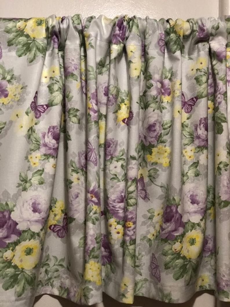 42 x 15 inches Handmade Shabby Rose and Buttefly Valance