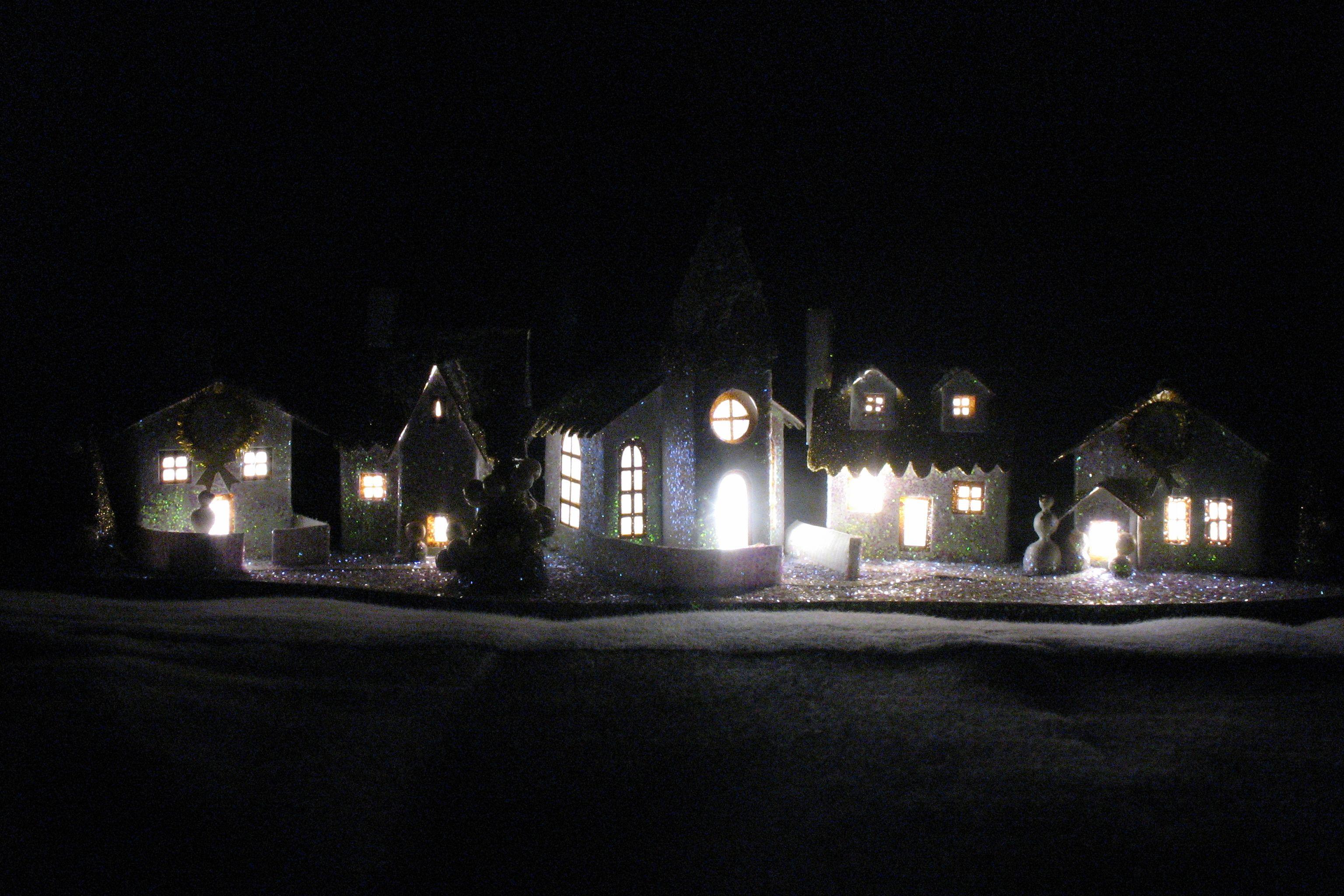 mini Christmas village (Godric's Hollow, right?)  #HarryPotter