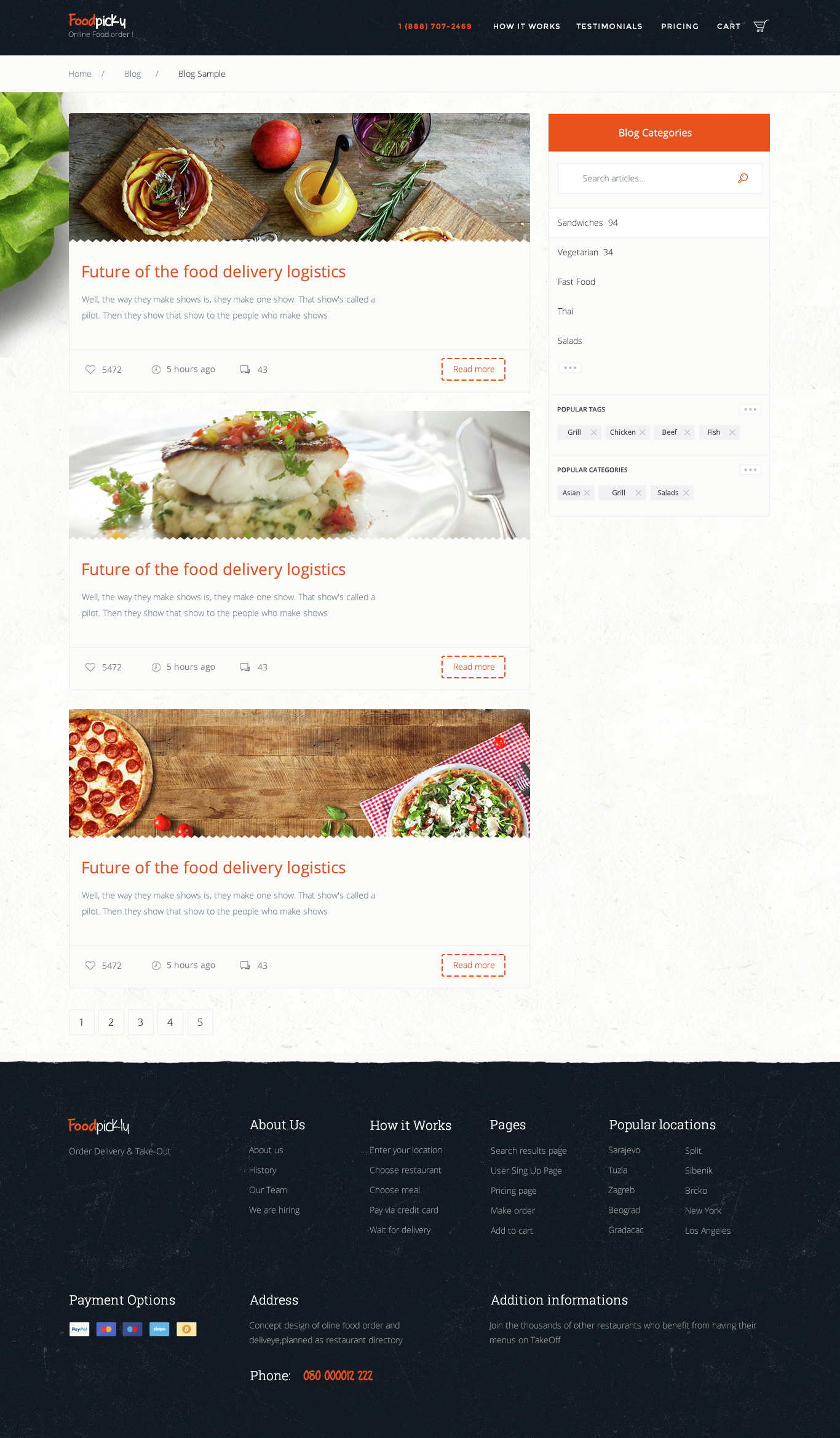 Foodpicky Online Food Ordering From Local Restaurants Directory Psd By Codenpixel