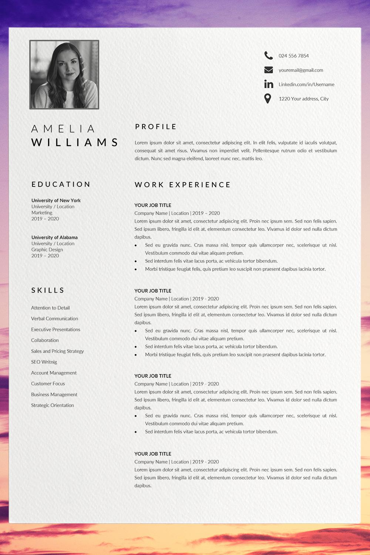 Modern Resume Template Word Cv Format Template Word Unique Etsy Resume Template Word Modern Resume Template Unique Resume Template