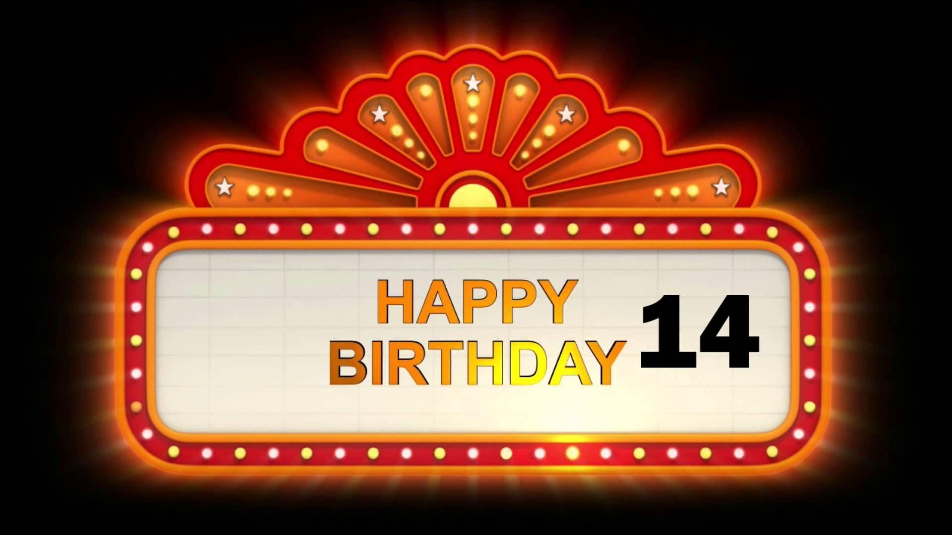 verjaardagswensen 14 jaar