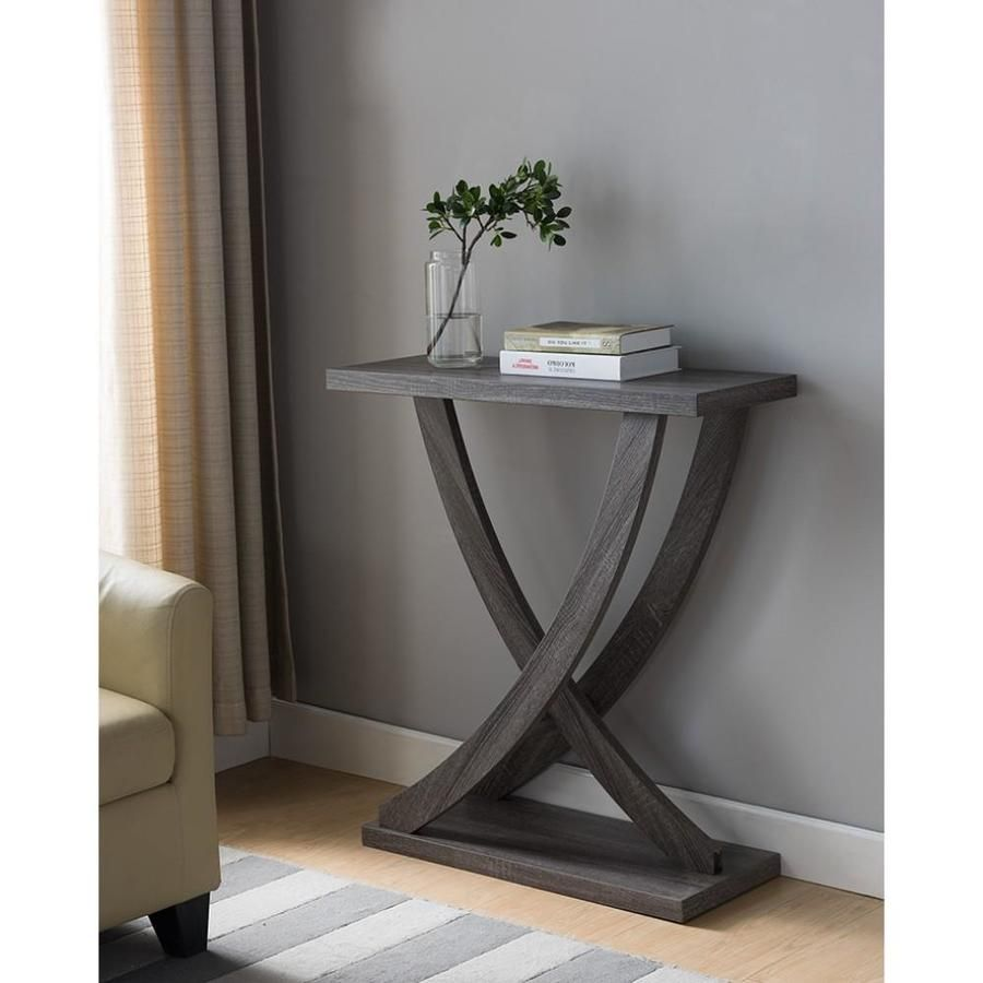 Benzara Gray Modern Console Table Lowes Com Modern Console Tables Wooden Console Gray Console Table [ 900 x 900 Pixel ]