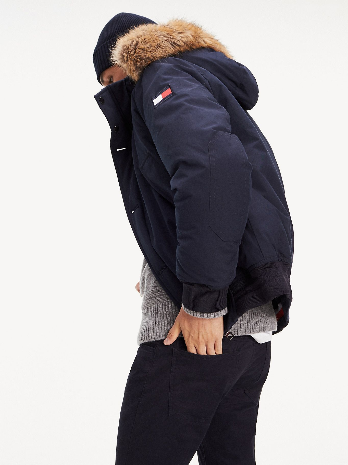cheap super quality outlet online Down Filled Hooded Bomber Jacket | SKY CAPTAIN | Tommy Hilfiger ...