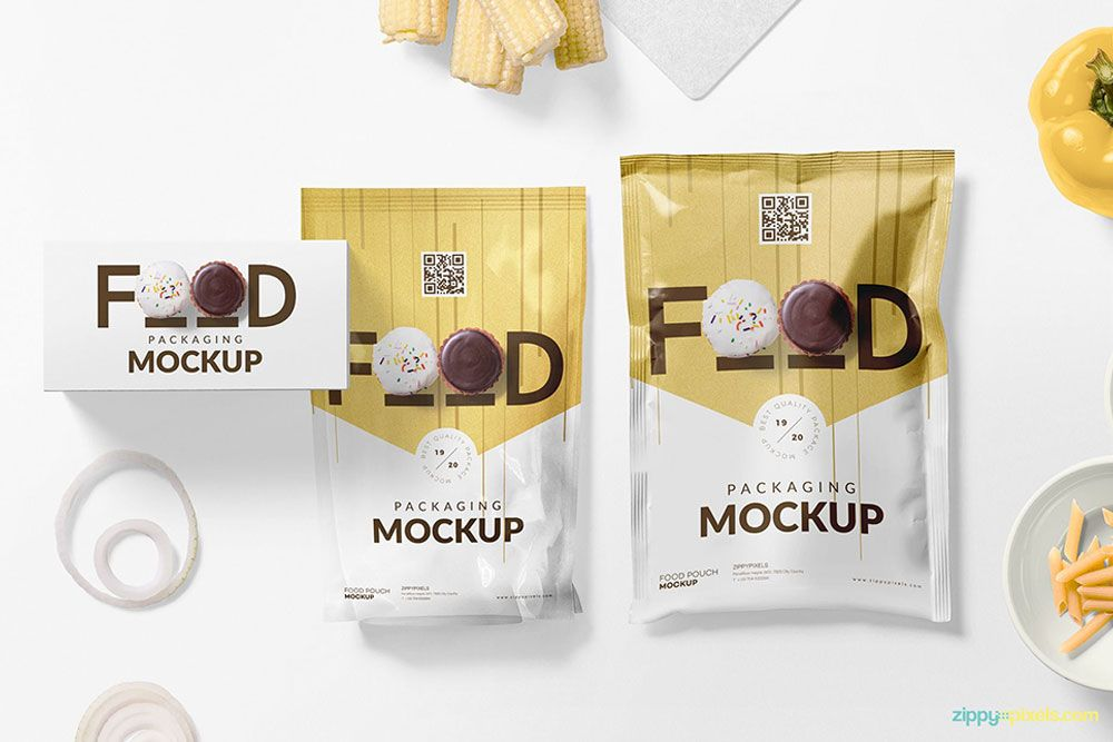 Free Set Of Food Packaging Mockup In Psd Food Packaging Mockup Psd Packaging Mockup Food Packaging Free Food