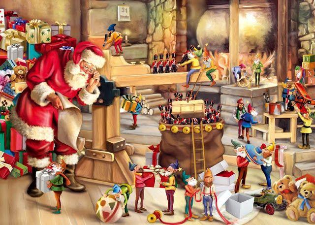 Imagenes De Papa Noel En Navidad Escenas De Navidad