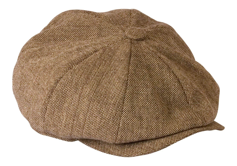 c06717c1609 Peaky Blinders Hat  Shelby  Oatmeal Brown Tweed Lightweight Summer Cloth Cap  By Gamble   Gunn (65cm)  Amazon.co.uk  Clothing