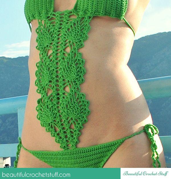 Crochet Swimsuit Free Pattern   crochet booties   Pinterest   Baño ...