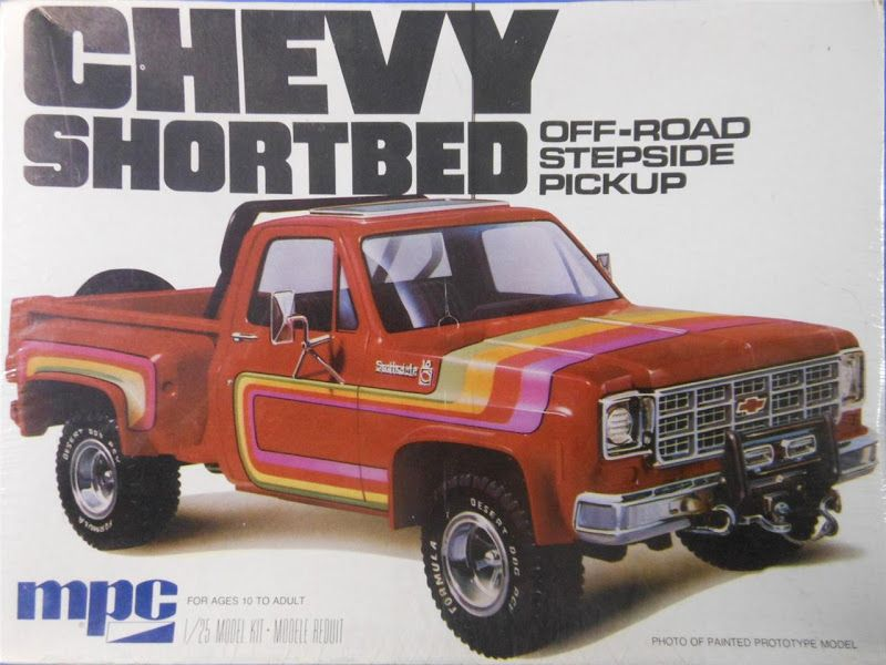 Mpc Chevy Shortbed Off Road Stepside Pickup Box Art Model Kit