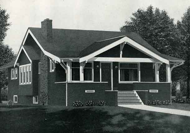 Standard Home Plans For 1926 The Brewster House Plans Craftsman Style Bungalow Craftsman Bungalows