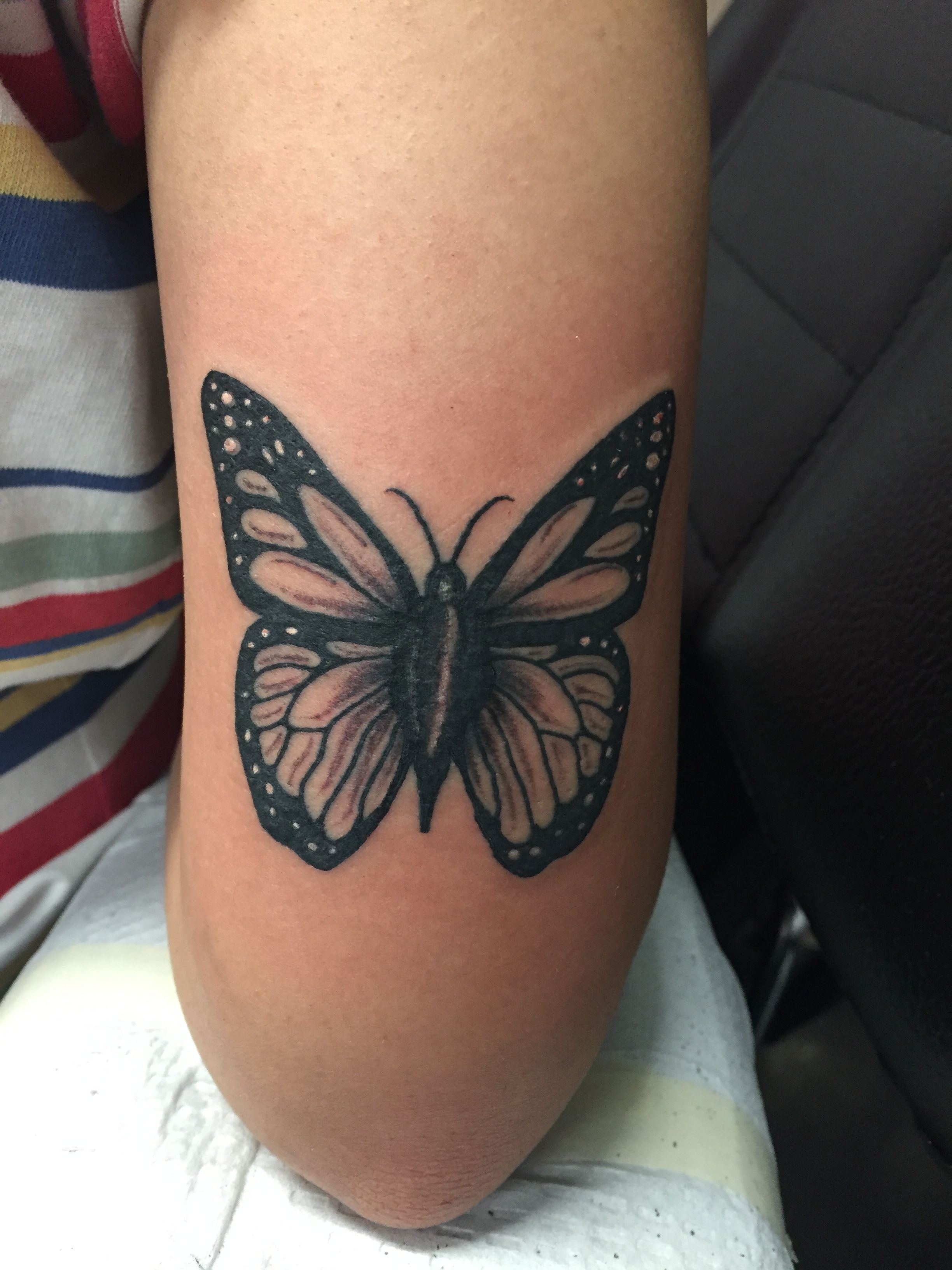 Butterfly Tattoo Above Elbow Tattoo Elbow Tattoos Butterfly Tattoo