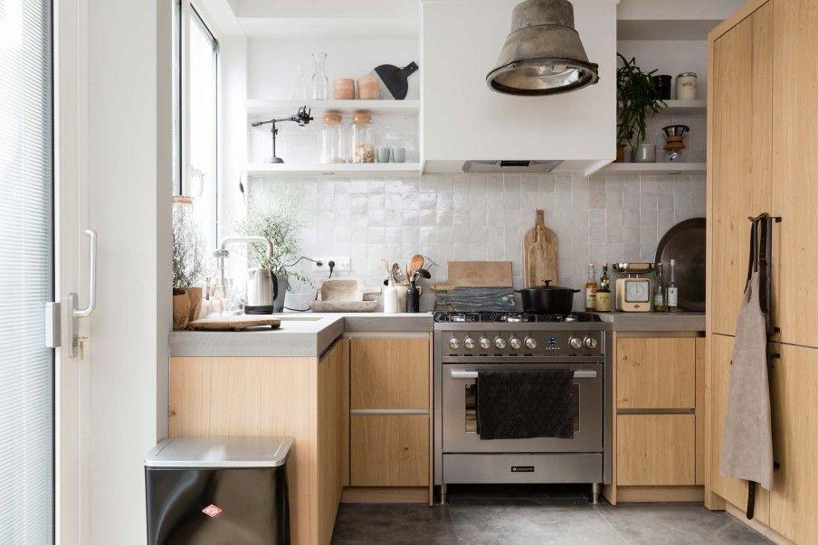 Keuken Make Over : Houten keuken met betonnen werkblad bij rik en tamara uit